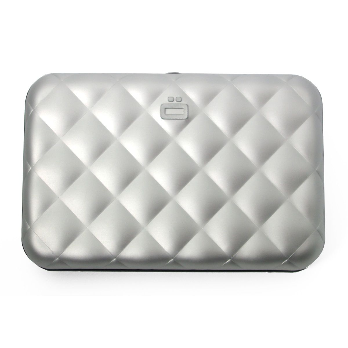 OGON Aluminum Wallet Quilted Button - Silver